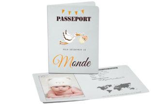 Faire part passeport naissance